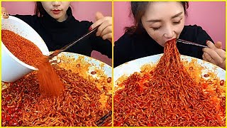 14 Moments Spicy Food Eating Noodles Show -  Chinese Food #ASMR #MUKBANG