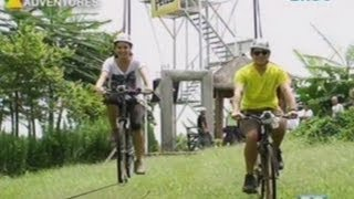 Richard Gutierrez at Sarah Lahbati, sinubukan ang Anicycle sa Bukidnon