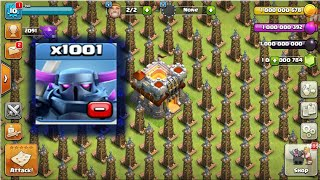clash of clans private server 1001 LEVEL Pekka Attack--1001 Pekka VS Tesla Attack--clash of redvil