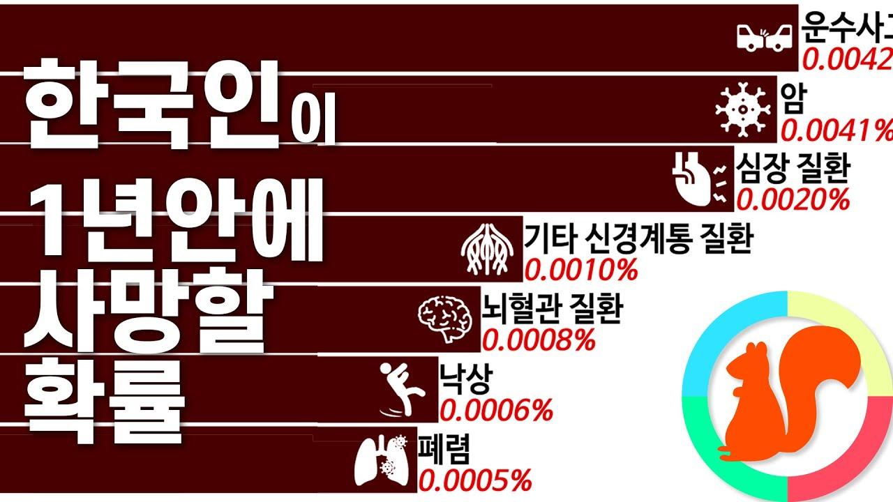 한국인 연령별 연간 사망률 및 사망원인