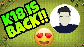 😍K18 GAMING IS BACK😚😍||CHANGED LOGO and CHANNL ART TO OFFICIAL K18 GAMING||CLASH OF CLANS||coc