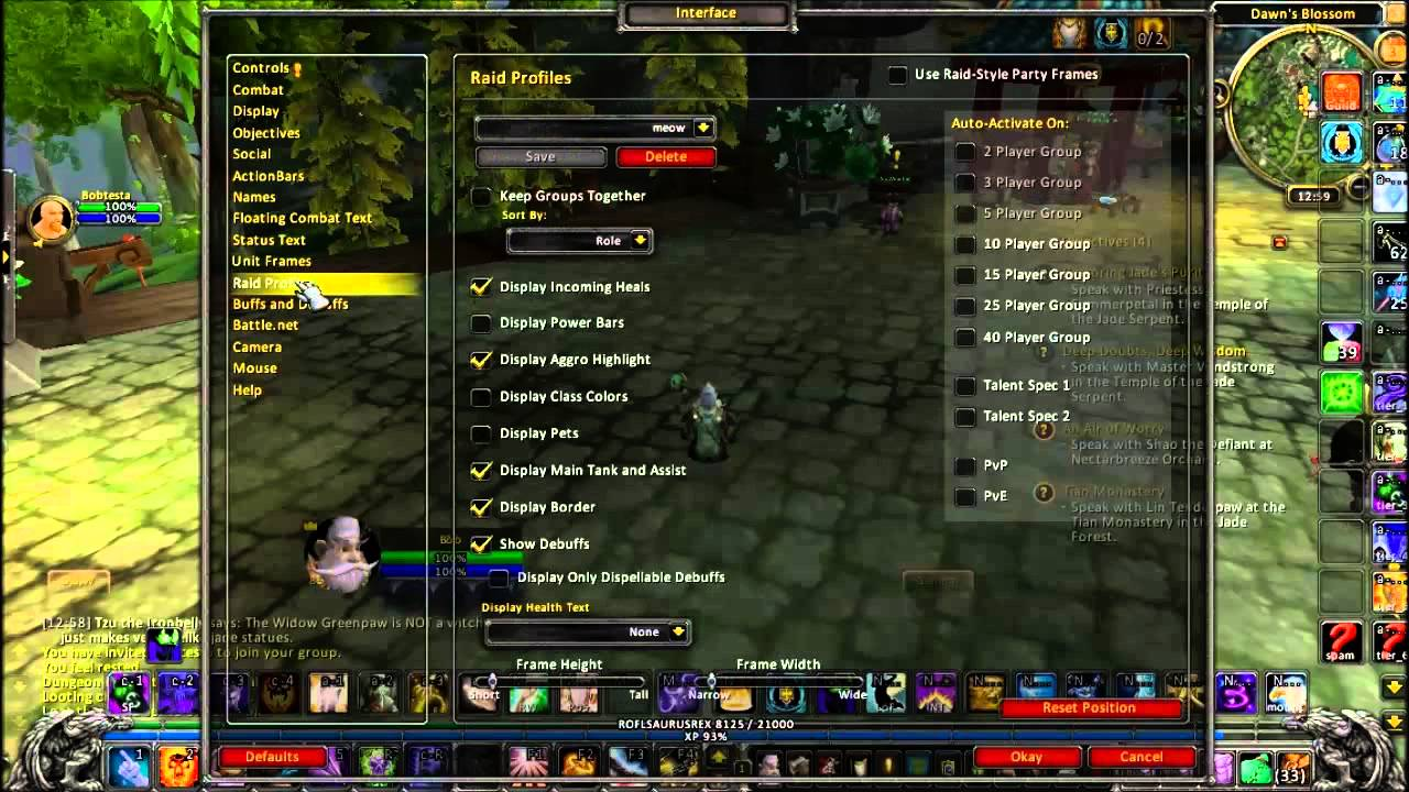 Default UI Basics: Hiding the party/raid frames without an addon or ...