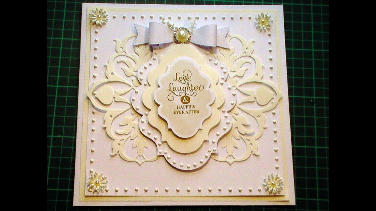 60. Cardmaking Tutorial - Ivory & White Anna Griffin Fretwork Fancy ...