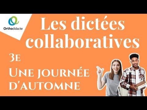 Dictée 3e n° 7 - Une journée d'automneKaynak: YouTube · Süre: 5 dakika2 saniye
