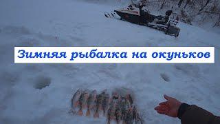 Зимняя рыбалка на снегоходах Ловим окуня В гостях у Владимира