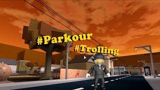 """Roblox:La calle """"Parkour"""" (Trolling)"""