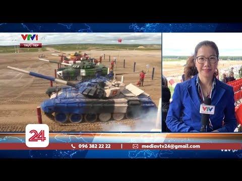 Đội tuyển xe tăng Việt Nam thi đấu tại chung kết Tank Biathlon 2019 | VTV24