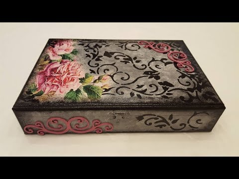 Decoupage Box With Rice Paper-DIY