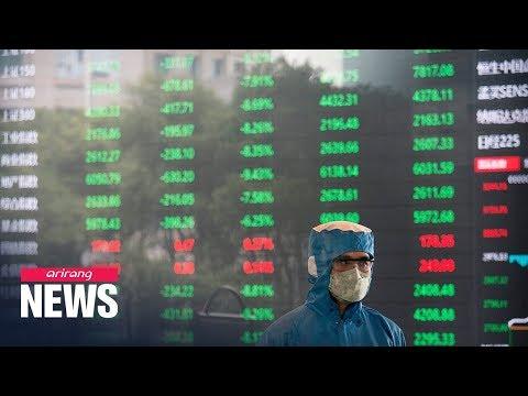 Chinese stocks plunge on fears of coronavirus spread