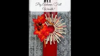 Easy Diy Autumn/fall Clothes Peg/pin Wreath