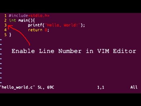 Enable Line Number in VIM editor