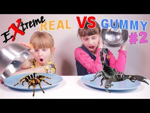 EXTREME REAL VS GUMMY (partie 2/2) • INSECTES REPTILES ARACHNIDES - Studio Bubble Tea Food Challenge