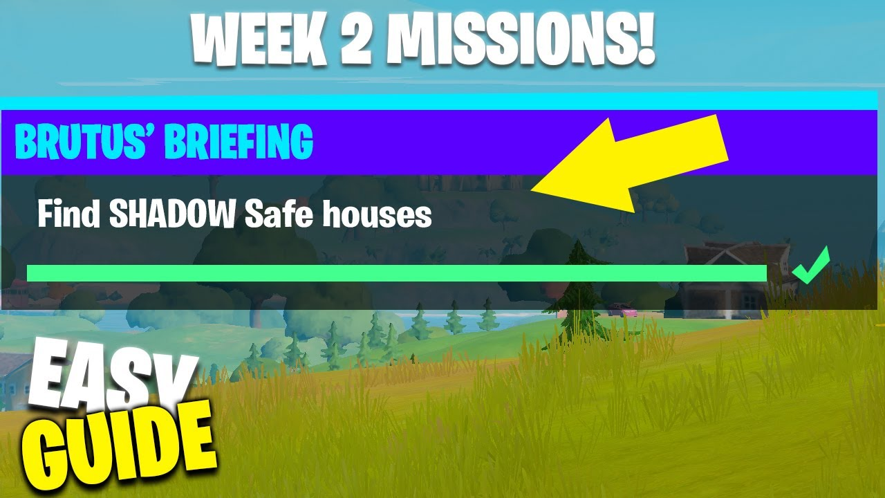 Find Shadow Safe Houses All Locations Fortnite Chapter 2 Season 2 Week 2 Missions Youtube