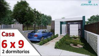 modelos de casas pequeñas y bonitas Casa 6x9 metros YouTube