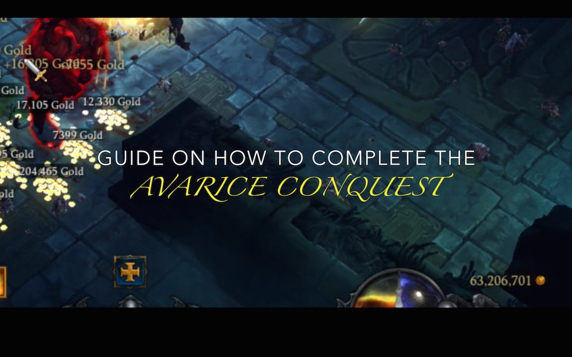 Diablo 3 Reaper of Souls Avarice Conquest Guide - YouTube