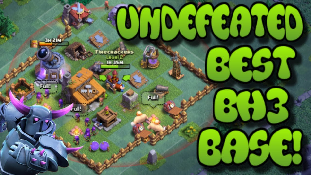 90a8e81f15 UNDEFEATED BEST BUILDER HALL 3 (BH3) BASE IN CLASH OF CLANS! | WIN MORE  VERSUS BATTLES EASILY!!