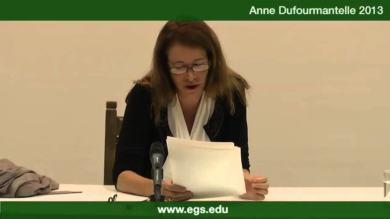 Anne Dufourmantelle. Who is the master here? 2013 - YouTube