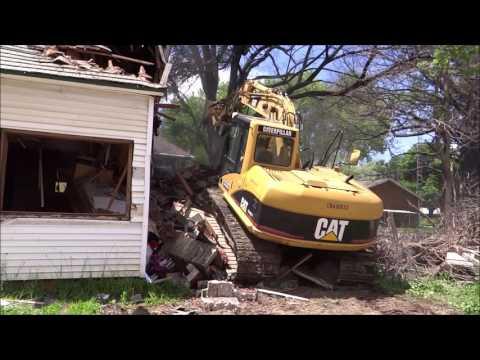 House Demolition - CAT 312CL - video taken summer 2015