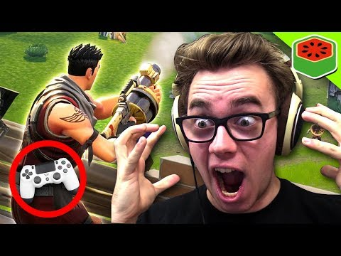 PC PLAYER TRIES CONSOLE! | Fortnite Battle Royale