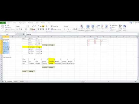 Some of the Excel functions with VBA