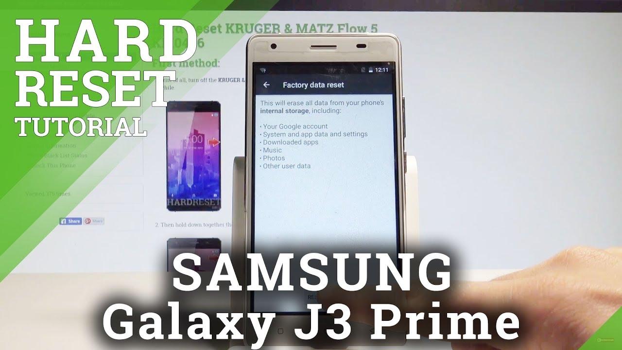 Hard Reset SAMSUNG Galaxy J3 Orbit - HardReset info