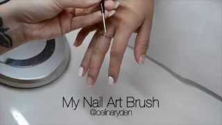 This is my nail art brush and my acrylic paint