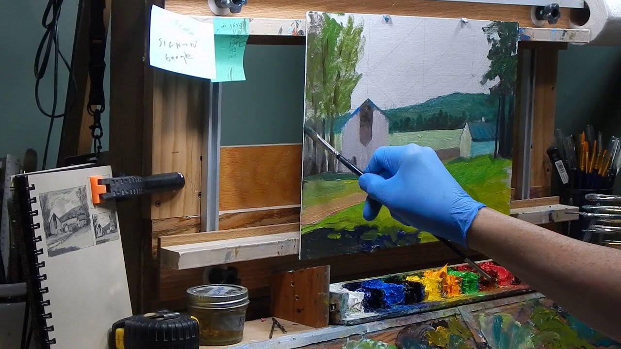 126 Farmstead Oil Painting Art Instruction TomFisherArt