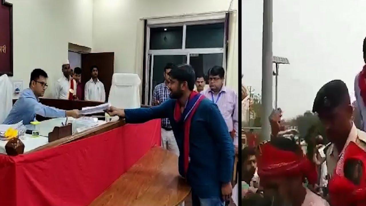 Former JNU student leader Kanhaiya Kumar files nomination papers from Begusarai