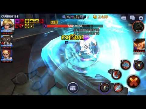 Marvel Future Fight - Sharon Rogers (Starlight Armor) X Odin (missão história 12-8)