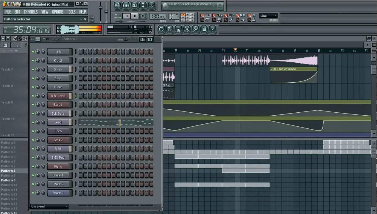 fl studio 8 bit sound