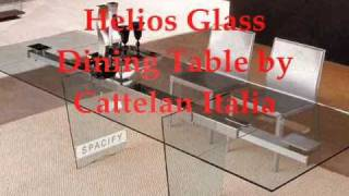 Modern Dining Tables, Wave Glass Extensible Dining Table