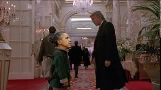Обама и Дональд Трамп в фильме Один дома 2