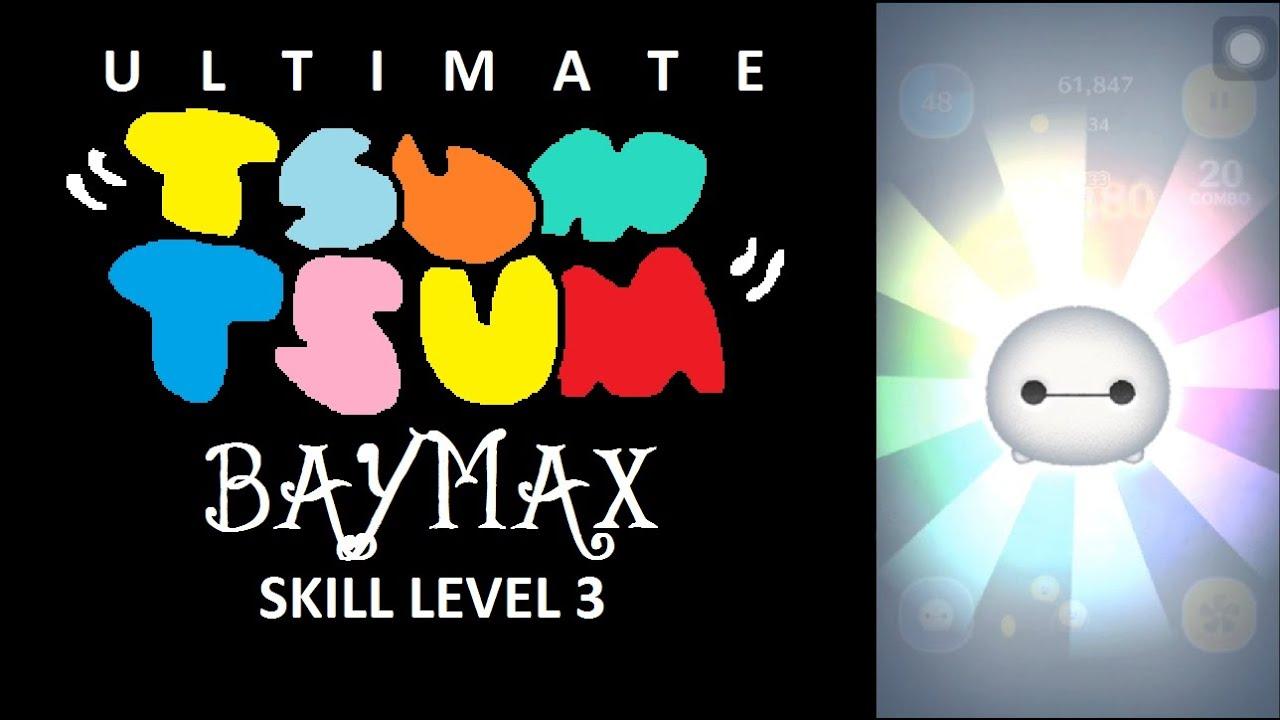 Tsum Tsum - Baymax Skill 3 - Generic Gameplay Video - YouTube