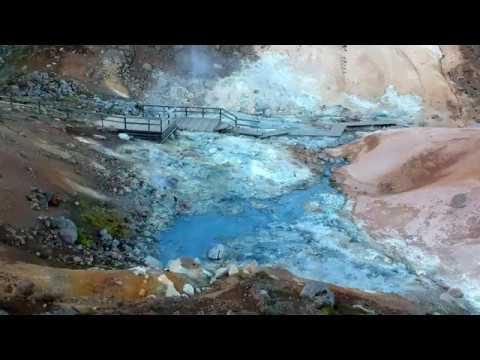 Iceland Road Trip - Geothermal Field Seltún-Krýsuvík by DJI Spark