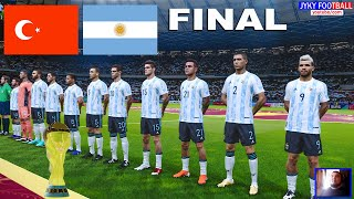 PES 2021 Turkey vs Argentina Final FIFA World Cup 2022 Full Match All Goals HD Gameplay PC