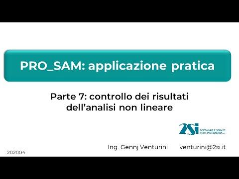 PRO_SAM -applicazione pratica - Parte 7: controllo dei risultati dell'analisi non lineare