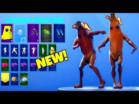 emotes with new rotten banana custom skin peely fortnite battle royale - fortnite peely skin