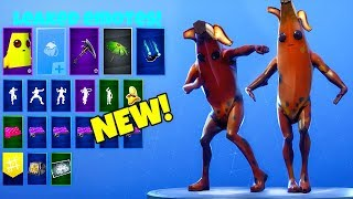 LEAKED! EMOTES with *NEW* ROTTEN BANANA Custom SKIN..! (Peely) Fortnite Battle Royale