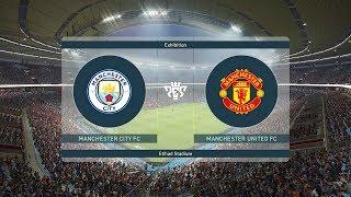 PES 2019 Manchester City v Manchester United Full Match
