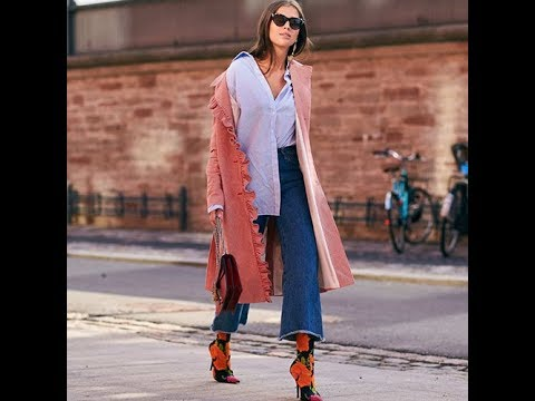 Wide leg jeans trends 2018