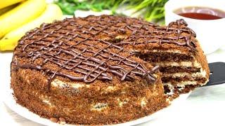 Торт Выручайка за 15 минут Вместе с Выпечкой Еще один быстрый рецепт торта Вам в копилочку
