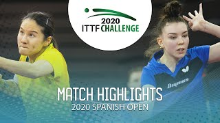 Мария Тайлакова vs Yang Xiaoxin | Spanish Open 2020 (1/4)