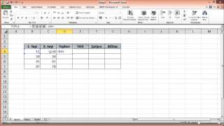Simple Four Operations in Excel