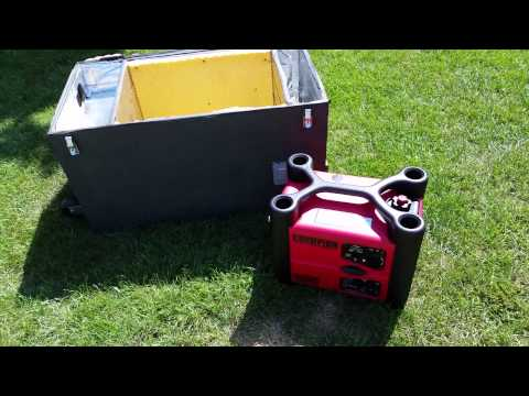 Inverter generator sound deadening box demo