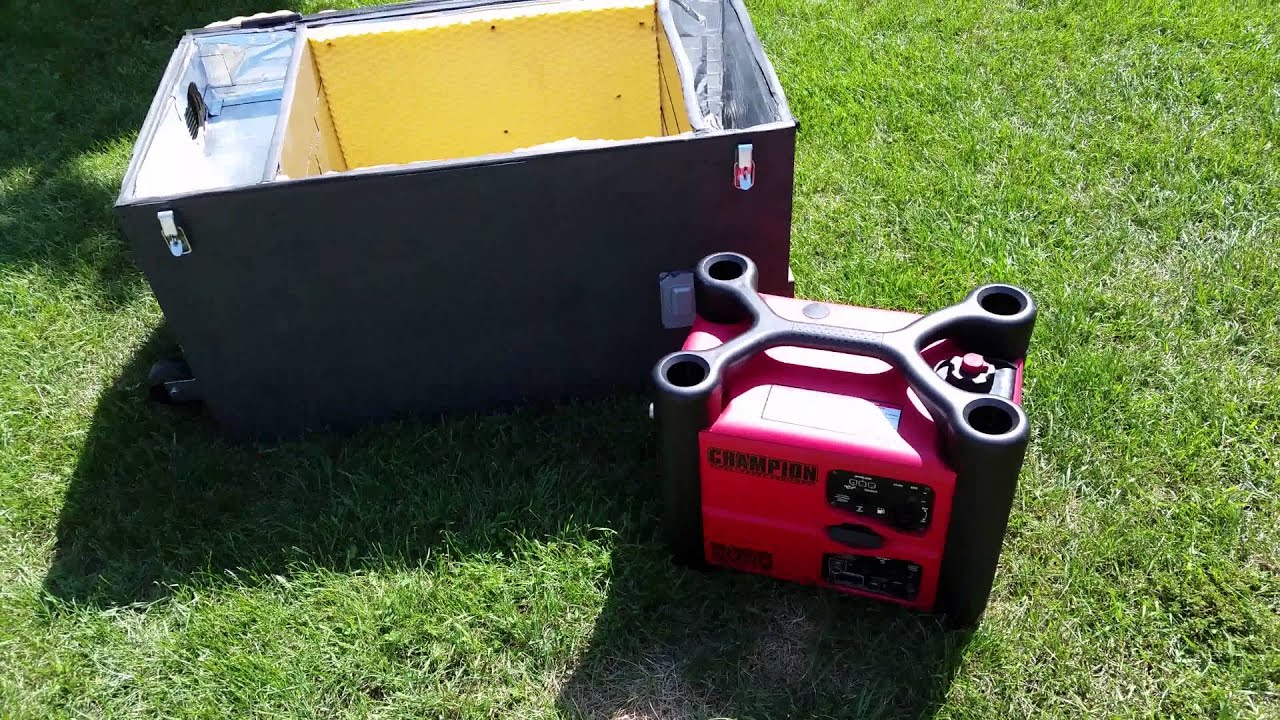 Inverter Generator Sound Deadening Box Demo Youtube