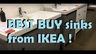 SAVE MONEY on bathroom sinks from IKEA for bathroom remodel