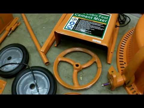 Harbor Freight 3.5 Cubic Foot Cement Mixer Assembly and Revi