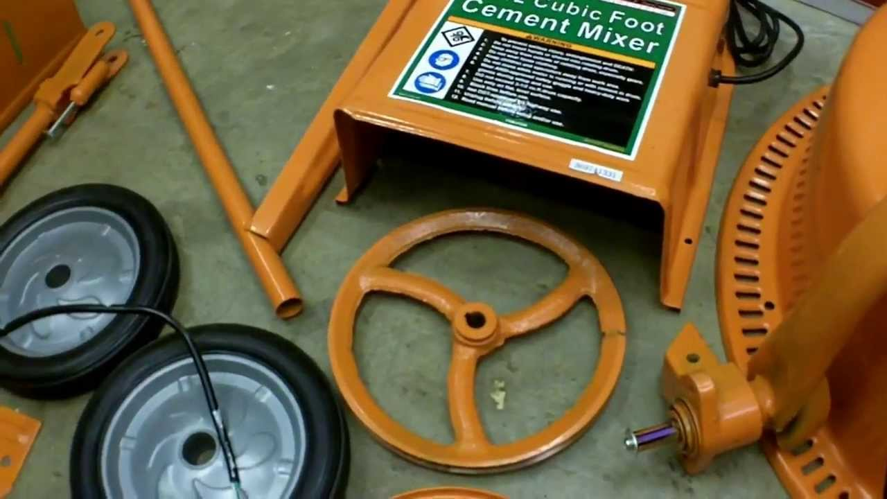 Harbor Freight 3 5 Cubic Foot Cement Mixer Assembly And