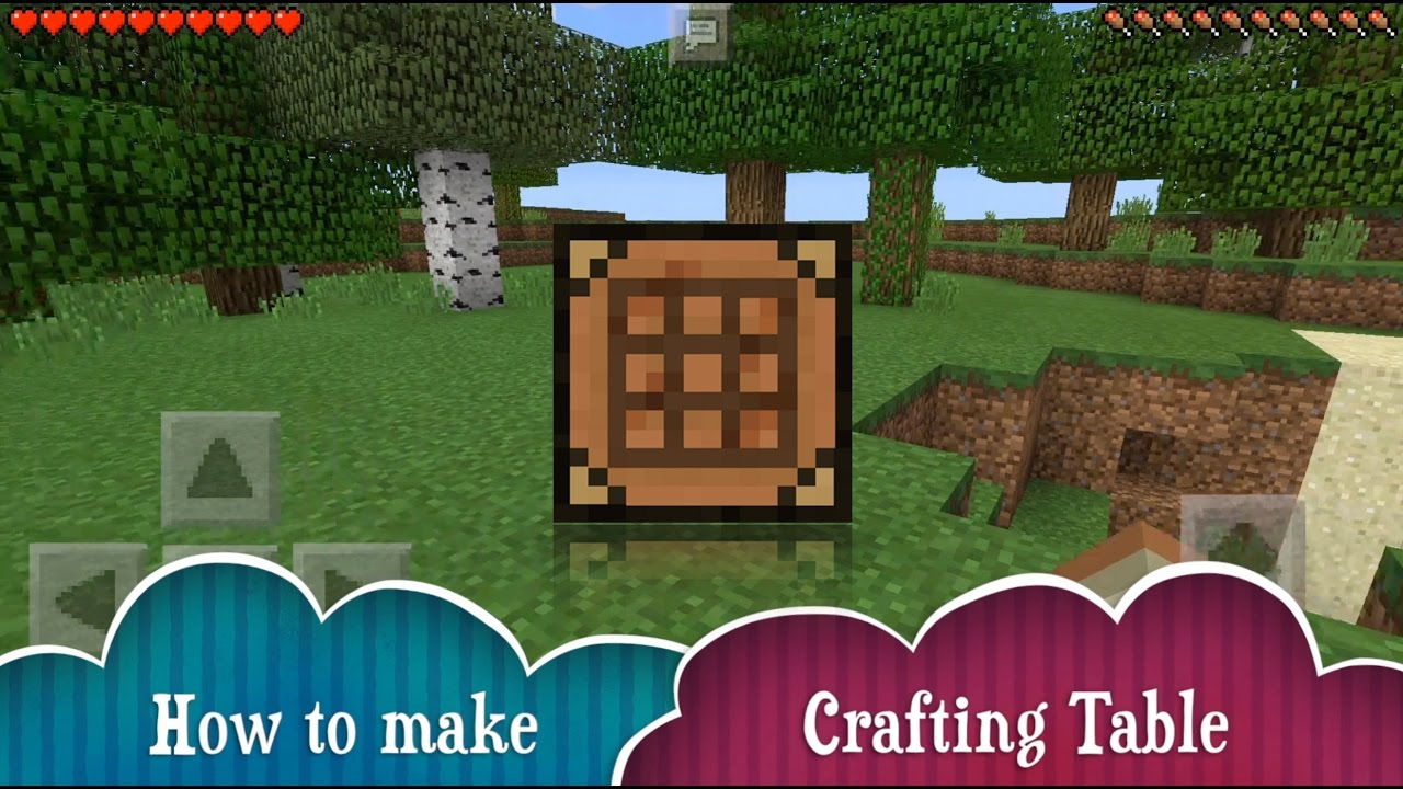 How To Make Crafting Table Minecraft Pe Youtube