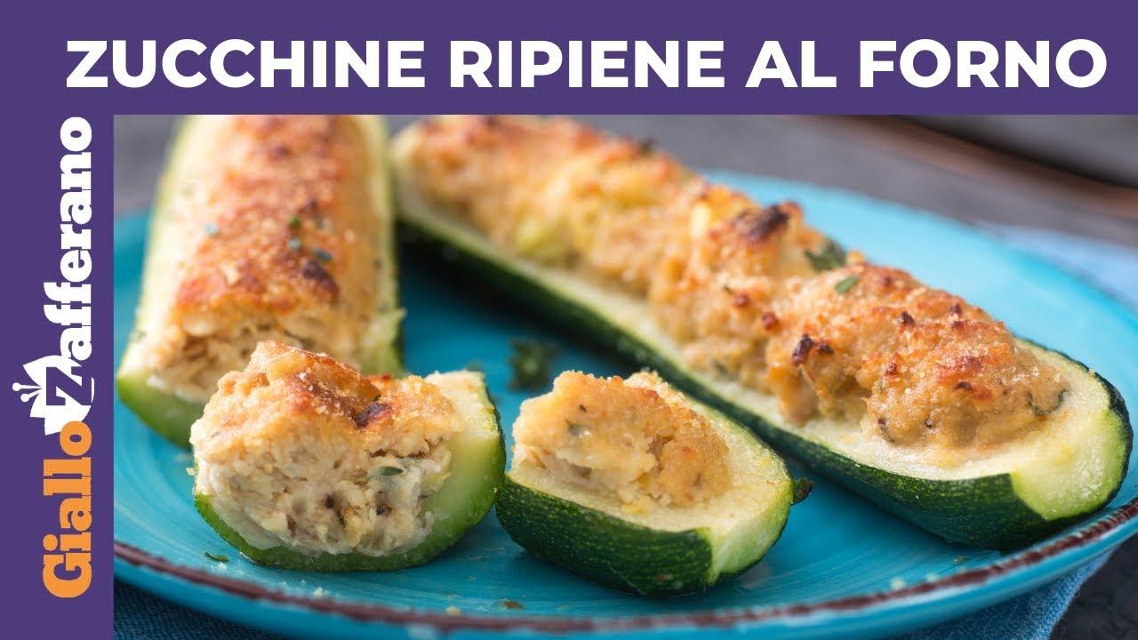 Zucchine Ripiene Tonno Ricetta Della Nonna.Zucchine Ripiene Al Forno Senza Carne Youtube